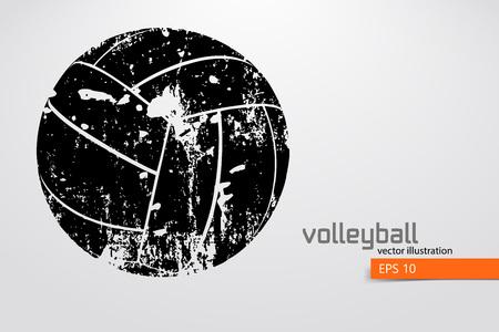 Illustration pour Silhouette of volleyball ball. - image libre de droit