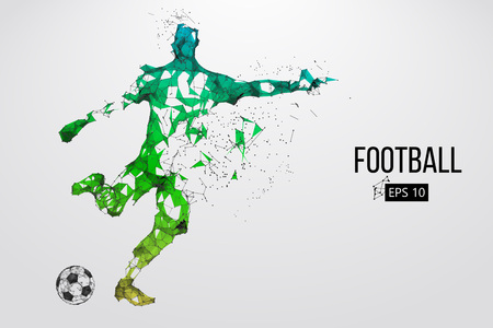 Illustration for Silhouette of a football player from particles - Royalty Free Image