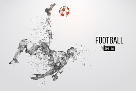 Illustration pour Silhouette of a football player from particles - image libre de droit