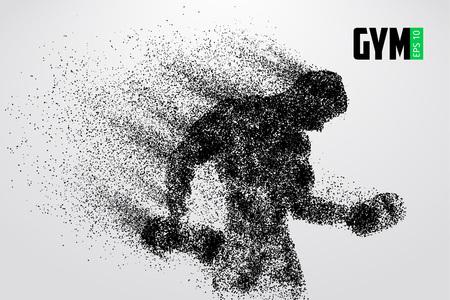 Ilustración de Silhouette of a bodybuilder. gym logo vector. Vector illustration - Imagen libre de derechos