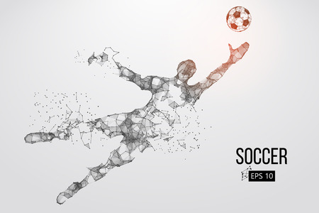 Illustration pour silhouette of a football player from particles. Vector illustration - image libre de droit