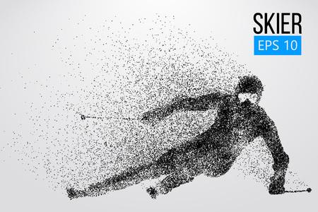 Illustration pour Silhouette of skier isolated. Vector illustration - image libre de droit