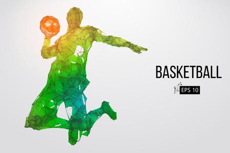 Foto für Silhouette of a basketball player. Vector illustration - Lizenzfreies Bild