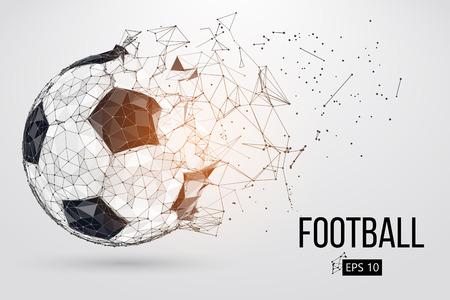 Illustration pour silhouette of a football ball. Vector illustration - image libre de droit