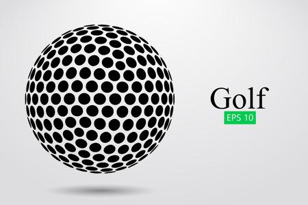 Ilustración de Silhouette of a golf ball. Vector illustration - Imagen libre de derechos