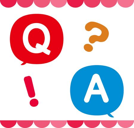 Ilustración de A set of Q & A icons and icons and decorations that can be used for questions and answers - Imagen libre de derechos