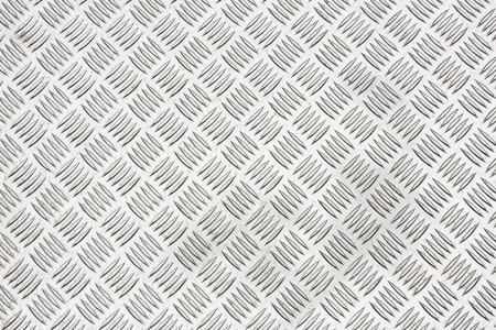 Foto per Diamond plate, also known as checker plate, tread plate, cross hatch kick plate and Durbar floor plate. - Immagine Royalty Free