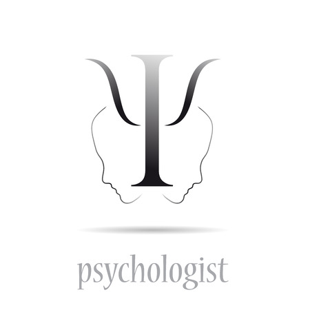 Illustration pour Vector sign psychologist in white - image libre de droit