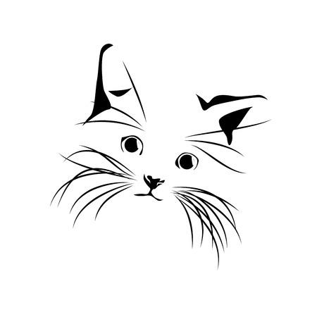 Ilustración de Vector abstract cat drawing - Imagen libre de derechos