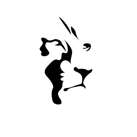 Illustration for Vector sign black lion - Royalty Free Image