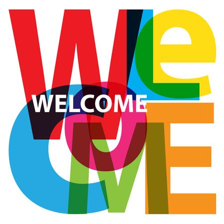 Illustration pour Vector Welcome. Broken text - image libre de droit