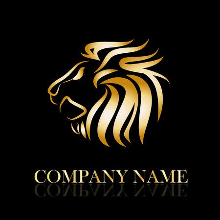 Illustration for Vector sign golden lion - Royalty Free Image