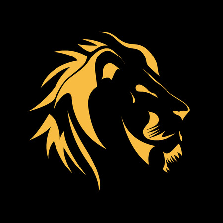 Illustration for Vector sign  Lion, strength and courage concept - Royalty Free Image