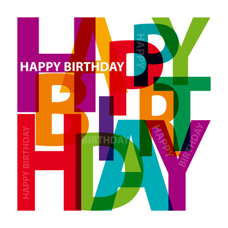 Illustration pour Vector happy birthday. Broken text - image libre de droit
