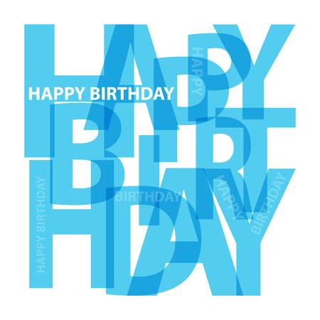 Vector happy birthday. Broken text