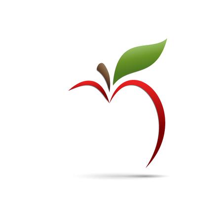 Illustration pour Vector sign abstract apple - image libre de droit