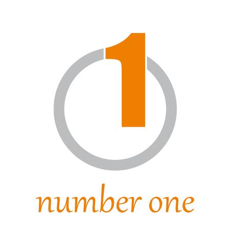 Ilustración de Vector sign number one on the circle - Imagen libre de derechos