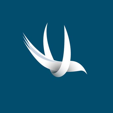 Vector sign abstract  bird in flight