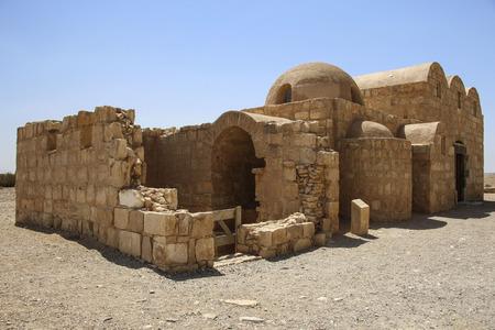 Photo pour Qasr Amra, desert castle near Amman, Jordan. Known with his famous frescoes - image libre de droit