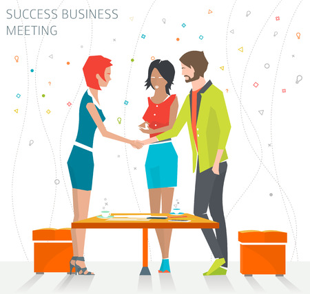 Ilustración de Concept of success business meeting / handshake / good deal /  vector illustration - Imagen libre de derechos