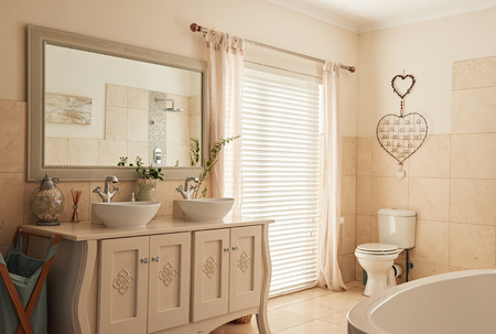 Photo for Stylish bathroom interior in a modern suburban home - Royalty Free Image