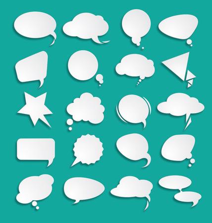 Illustration pour White clouds dialog - image libre de droit