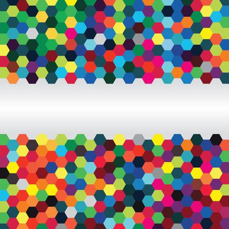Illustration pour Abstract background of hexagons - image libre de droit