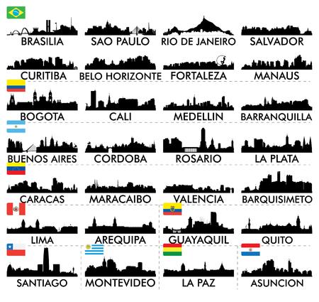 Illustration pour City skyline South America - image libre de droit