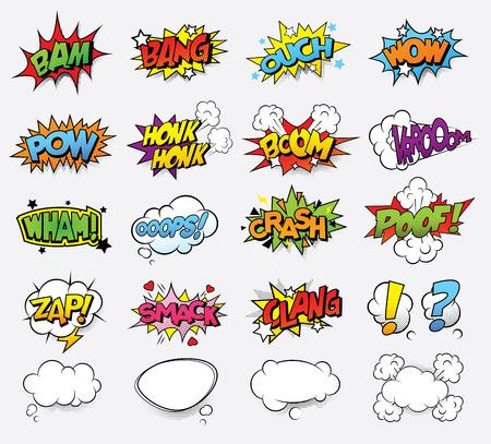 Ilustración de Comic sound effects - Imagen libre de derechos