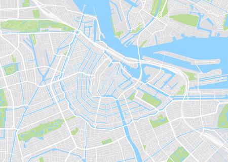 Illustration pour Amsterdam colored vector map - image libre de droit
