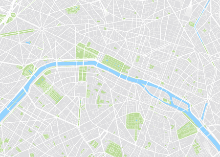 Illustration pour Paris colored vector map - image libre de droit