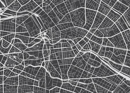 Illustration pour Vector detailed map Berlin - image libre de droit