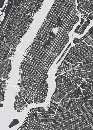 Illustration pour Vector detailed map New York - image libre de droit