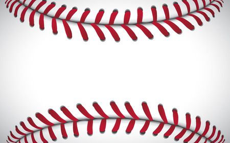 Illustration pour Texture of a baseball, sport background, vector illustration. - image libre de droit