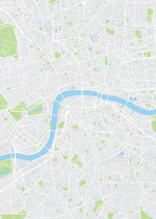 Ilustración de Colored plan map of London, aerial view - Imagen libre de derechos