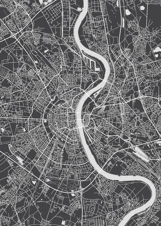 Illustration pour Cologne city plan, detailed vector map - image libre de droit