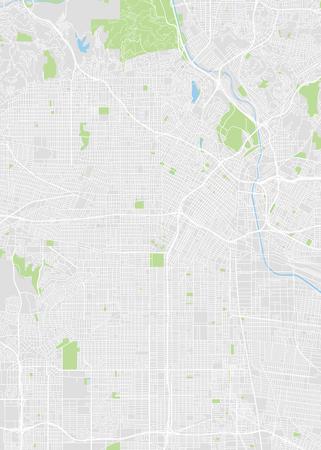 Illustration pour Los Angeles colored vector map - image libre de droit