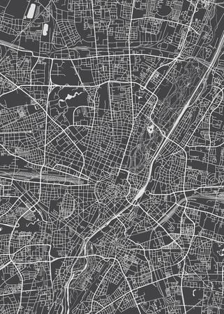 Illustration pour Munich city plan, detailed vector map - image libre de droit