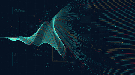 Illustration pour Futuristic business analytics big data visualization digital, financial investment and economic growth concept for financial presentation - image libre de droit