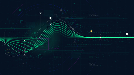 Illustration pour Information graph data showing flow of financial resources, business Intelligence dashboard, creative concept for presentation for financial presentation - image libre de droit