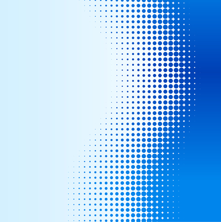 Ilustración de Blue half-tone background. Vector illustration. - Imagen libre de derechos