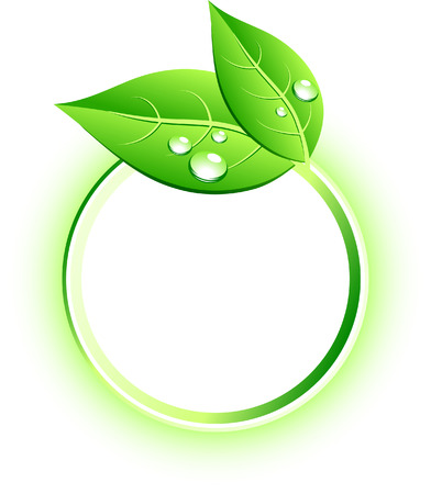 Beautiful eco icon. Vector illustration.