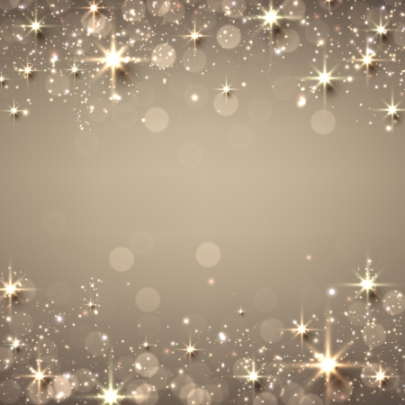 Illustration pour Golden christmas abstract texture background. Holiday illustration with stars and sparkles. Vector.  - image libre de droit