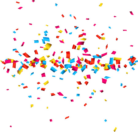 Ilustración de Colorful celebration background with confetti. Vector Illustration. - Imagen libre de derechos