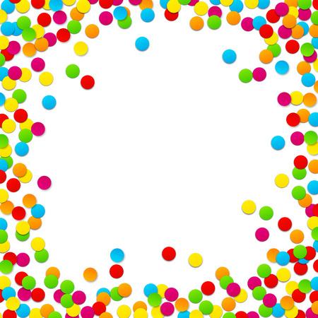 Illustrazione per Colorful celebration background with confetti. Vector Illustration. - Immagini Royalty Free