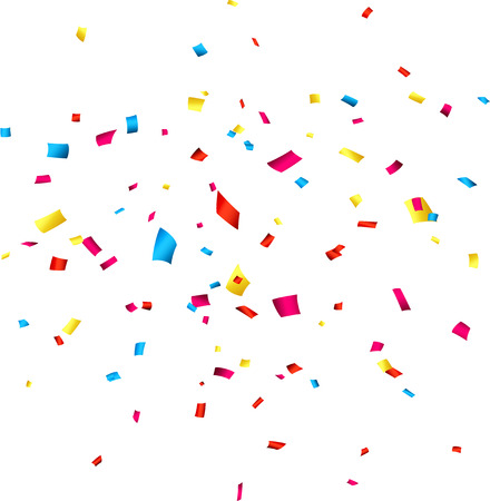 Illustration pour  Colorful celebration background with confetti. Vector Illustration. - image libre de droit