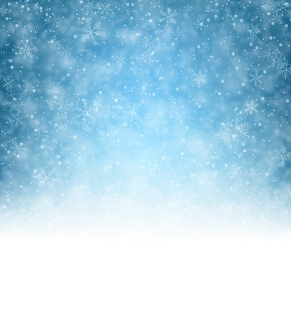 Illustration pour Winter pattern with crystallic snowflakes. Christmas background. Vector.  - image libre de droit
