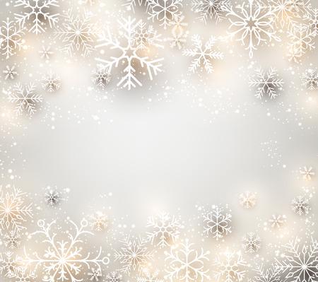 Illustration pour Winter background. Glowing snowflakes. Christmas. Vector frame. - image libre de droit