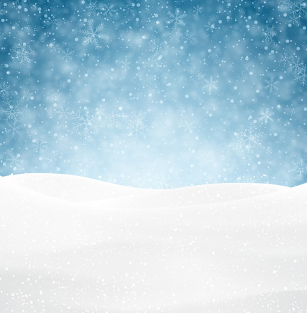 Illustration pour Winter background with snow. Christmas snow surface. Eps10 vector illustration. - image libre de droit