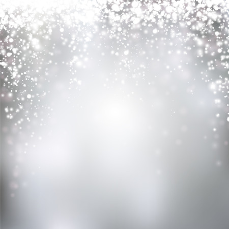 Illustration for Silver winter abstract background. Christmas background with snowflakes. Vector. - Royalty Free Image